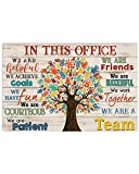 HolyShirts Social Worker We are A Team in This Office We are Friends Poster (24 inches x 36 inches)