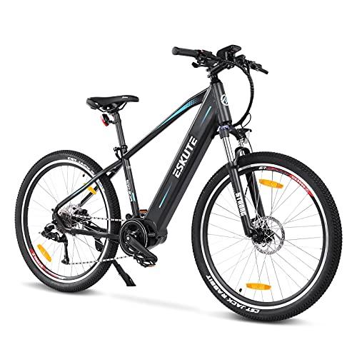 ESKUTE Bicicleta Eléctrica de Montaña 27.5'E-MTB Bicicleta Motor Central 250w Bafang Batería extraíble de Iones de Litio Samsung 36V 15A para Adultos 9 Velocidades Frenos de Disco Hidráulicos