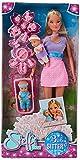 Simba - Steffi Love Babysitter - Poupée Mannequin 29cm - Porte Bébé + 2 Bébés et Accessoires Inclus - 105730211