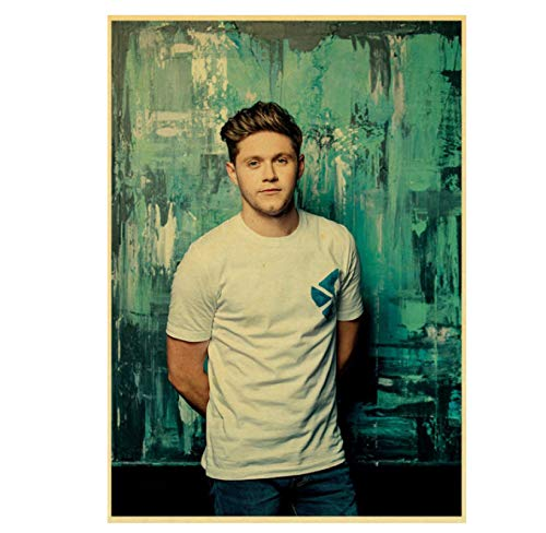 Póster De One Direction Singer Niall Horan, Póster Retro, Carteles Antiguos, Impresiones, Póster, Pintura De Pared, Bar/Decoración del Hogar, 40X60Cm, Sin Marco