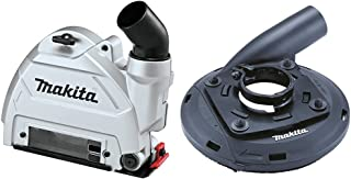 Makita 196845-3 125Mm Dust Collecting Guard, Multi-Colour & 195239-9 Dust Collecting Hood for 115mm and 125mm Angle Grinders