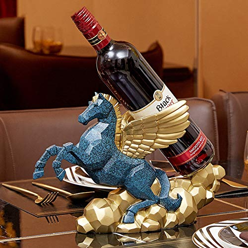 Sebasty deko Wohnzimmer Europäische Kreative Weinregal Dekoration Praktischen Luxus Veranda Weinschrank Dekoration Wohnzimmer Esszimmer Amerikanische Hauptdekoration 32 * 14 * 21cm