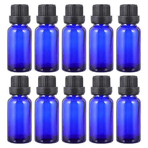 HEALLILY 15St Glas Ögon Dropperflaskor Tomma Refillbar Eterisk Olja Dispenser Behållare För Parfym Prov Injektionsflaskor Flytande Kosmetiska 10ML
