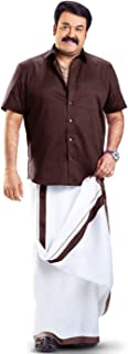 MCR Men's Pure Cotton Double Dhoti(158_White With Colour Border_4m)