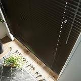 アルミブラインド 1cm単位でオーダー可 1年保証 (右操作 ブラウン 幅40cm×高さ100cm)