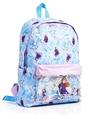 Disney Frozen 2 Rucksack Mädchen, Schulranzen Kinder, Die Eiskonigin 2 Rucksack, Elsa Und Anna Schultasche, Schulrucksack Madchen Blau, Reisetasche, Kinderrucksack, Backpack, Tolle Geschenkidee