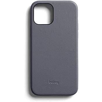 Bellroy Phone Case for iPhone 12 Mini (Leather iPhone Cover, Soft Microfiber Lining) - Graphite