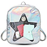 FF1 Cute Hologram Laser Clear Transparent Beach Backpack Ita Bag