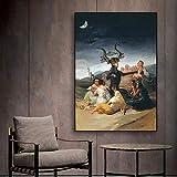 XCPINGYIDU Hexen Sabbat Francisco Goya Vintage Poster