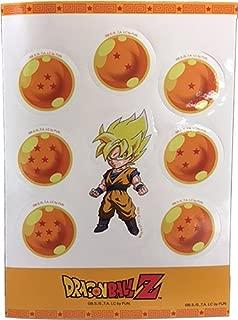Dragon Ball Z Stickers - SS Goku & Dragon Balls Set