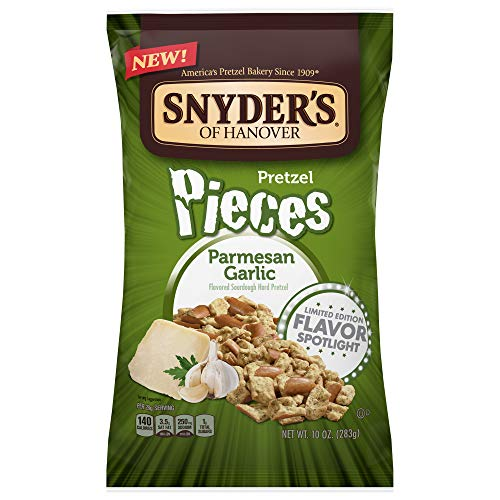 Snyder's of Hanover Garlic Parmesan Flavored Pretzel Pieces- Four 10 oz. Bags