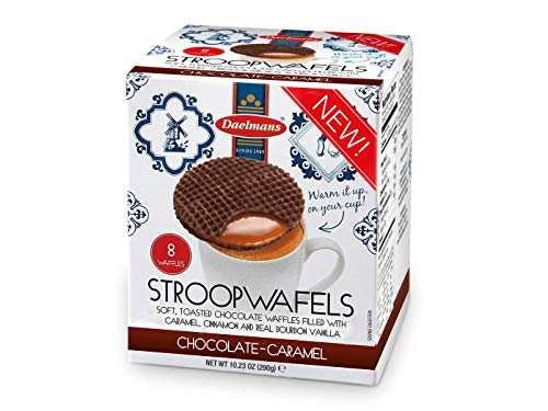 Daelmans Galletas Chocolate Caramel Stroopwafels in Cube Box