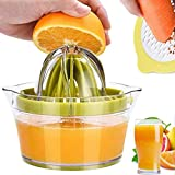 ZLDM Lemon Squeezer - Exprimidor manual multifunción para moler zanahorias y zumo, juego de 4 piezas con Juicer Machine, para el hogar Kitchenaid