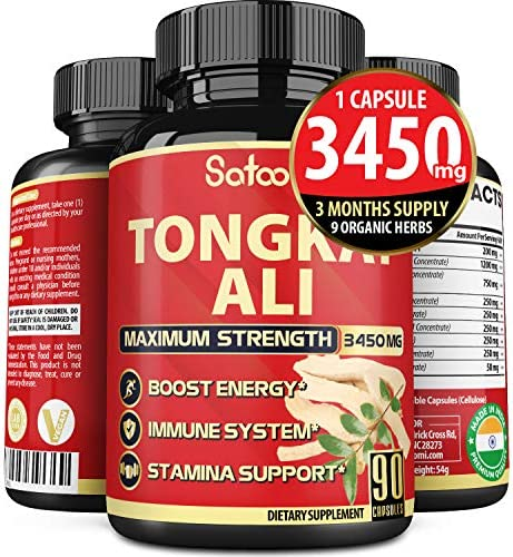 Naturals Tongkat Ali Root Extract 200 1 3450 mg 3 Months Supply Supports Energy Stamina and product image