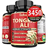 Natural Tongkat Ali Root Extract 200:1, 3450 mg* LongJack and More - Support Energy, Stamina and Immune System* - 3 Months Supply