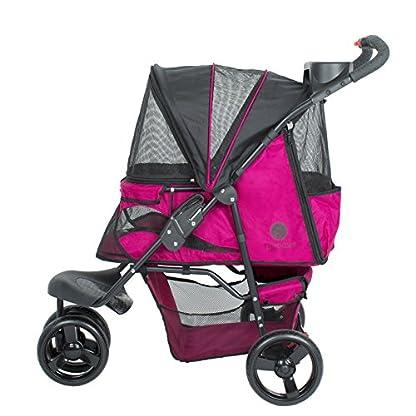 PETIQUE Razzberry Pet Stroller, Razzberry, One Size (ST01100103) 2