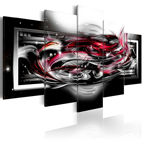 murando Akustikbild Abstrakt Galaxy 200x100 cm Bilder Hochleistungsschallabsorber Schallschutz Leinwand Akustikdämmung 5 TLG Wandbild Raumakustik Schalldämmung a-A-0041-b-o