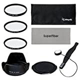 LS Photography 67mm Lens Filter Accessory Kit for Nikon Canon DSLR Camera Filter(UV, CPL, FLD),Pouch,Tulip Lens Hood,Snap-On Lens Cap,Cap Keeper Leash, Gray SuperFiber Lens Cleaning Cloth, LGG11