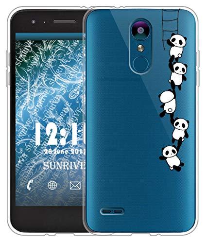 Sunrive Für Lg K9 Hülle Silikon, Transparent Handyhülle Schutzhülle Etui Hülle für LG K9(TPU Panda 1)+Gratis Universal Eingabestift