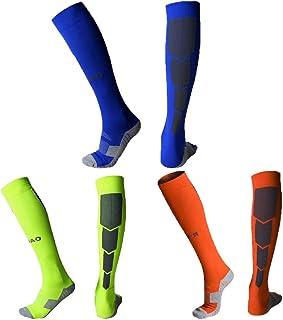 Quickshark Knee High Soccer Socks, Elite Performance Cushion Athletic Socks 1/3/5 Packs