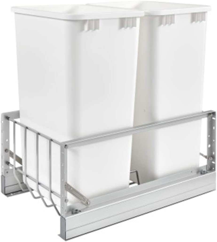Genuine 2021 spring and summer new Free Shipping Rev-A-Shelf 5349-2150DM-2 Double 50-Quart Under W Pull-Out Mount