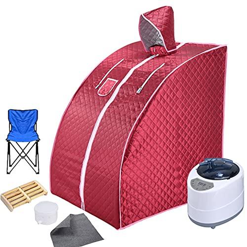 Tragbare Dampf-Sauna Zu Hause | Mobile Sauna Mit 1-9 Temperatur Einstellung | Edelstahl 304 Rohr Unterstützung | Fördern Sie Die Durchblutung | Halten Sie Den Körper Gesund
