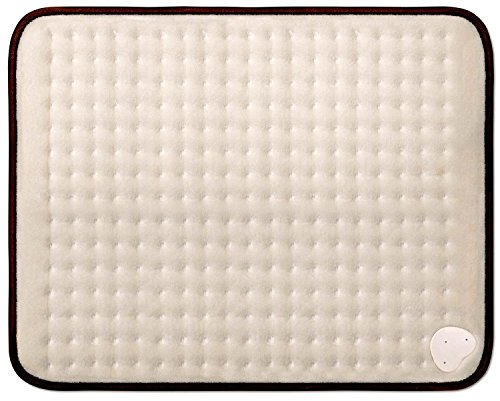 Sweet Dreams Electric XL Heat Pad with 6 Heat Settings - Extra Large Luxurious Soft Microfleece - Therapeutic, Soothing Pain Relief Therapy for Back, Neck, Arthritis & Tension (50 x 38cm, Cream)