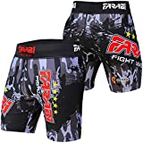 MMA Vale tudo Short Grappling Fight Training Match Compression Tight by Farabi (XL)