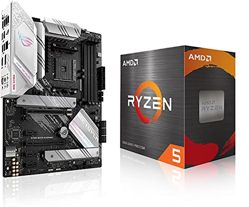 Micro Center AMD Ryzen 5 5600X Desktop Processor 6-core 12-Thread Up to 4.6GHz Unlocked with Wraith Stealth Cooler Bundle with ASUS ROG Strix B550-A AMD AM4 Zen 3 Ryzen 5000 ATX Gaming Motherboard