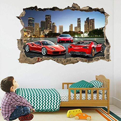 Pegatinas de pared Etiqueta de la pared Etiqueta de la pared del coche mural calcomanía cartel autoadhesivo arte de impresión 80 * 120CM
