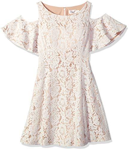 Eliza J Women's Cold Shoulder Fit and Flare Dress Ivory, 18