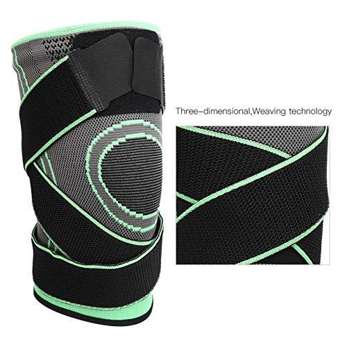 Verde Deporte al aire libre Compresión Rodillera Compresión Rodillera CompressionKneepad Alta elasticidad para prevenir lesiones durante los deportes(Green-M)