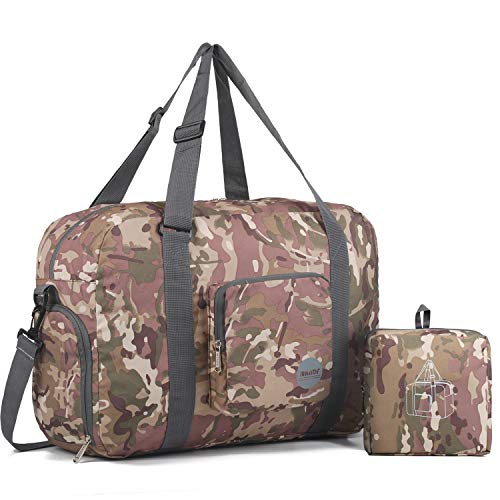 Foldable Duffle Bag 40L, Super Lightweight Travel Duffel for Luggage Sports Gym Water Resistant Nylon by WANDF