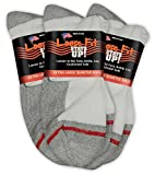 Loose Fit Stays Up Men's and Women's Quarter Socks 3 Pack Made in USA! (X-Large, White (Red Label))