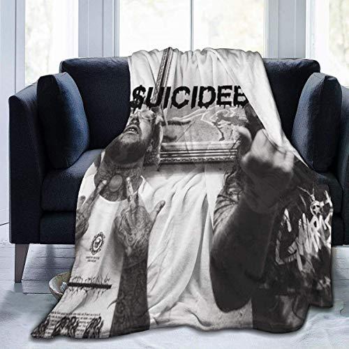 AORSTAR Suicide - Manta de forro polar ultrasuave para niños, para cama, coche, camping, sofá, felpa, para todas las estaciones, uso diario
