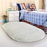 Noahas Ultra Soft Fluffy Bedroom Rugs Kids Room Carpet Modern Shaggy Area Rugs Home Decor 2.6' X 5.3', Creamy