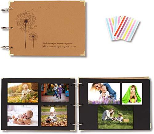 Scrapbooking, Zetong DIY Foto Album Fotografico Scrapbook Diario Creativo Regalo Vintage, 30 Fogli / 60 Pagine