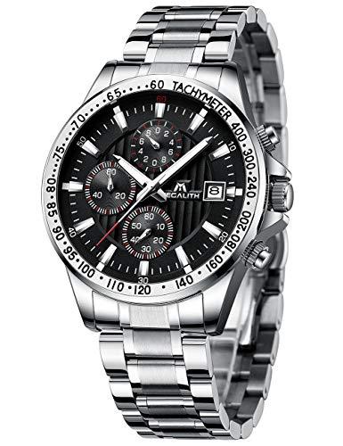 Herren Uhr Männer Militär Chronographen Edelstahl Wasserdicht Armbanduhren Mann Designer Sport Business Dress Datum Analog Uhren
