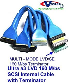 SuperEcable - 20496-5 160 M/bs SCSI Internal Cable with Terminator - Round Ultra a3 LVD - 5 Drive