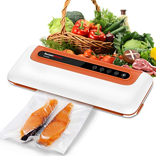 Food Vacuum Sealer Machines Air Sealing For Food Preservation w Start Kits, Dry & Moist Modes Sous Vide Vacuum Packing Machines