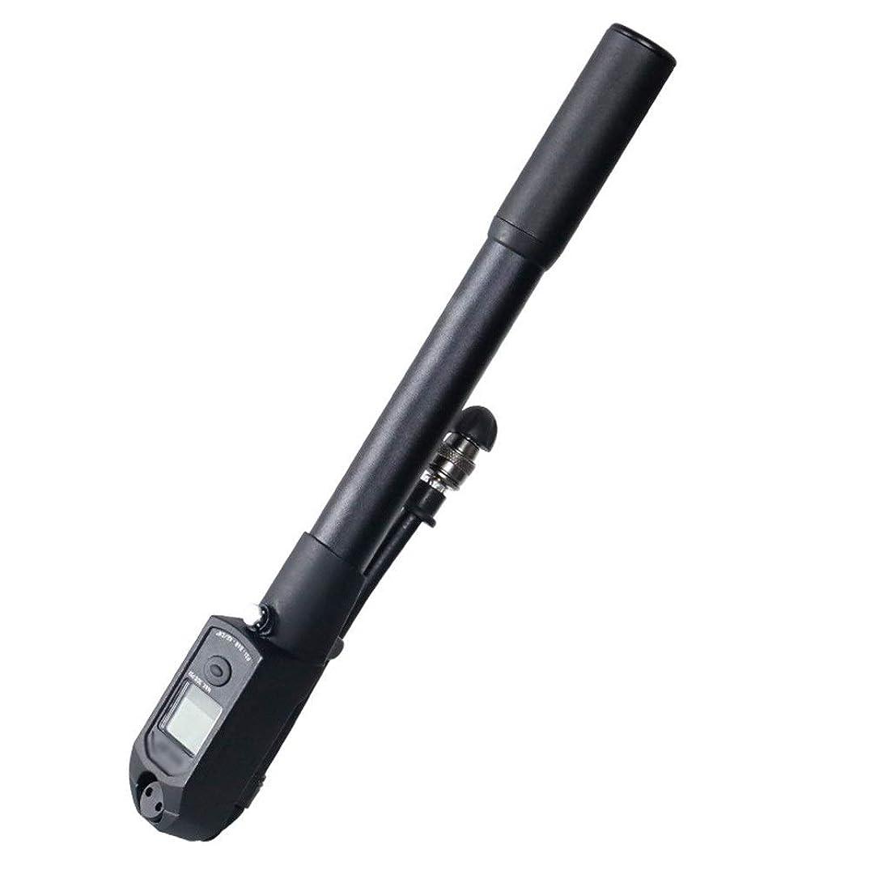 ごみ雑品虚栄心デジタル圧力計付き正確な高圧ミニサイクリングフロアポンプ - Presta&Schraderにフィット ミニ自転車タイヤポンプ (色 : ブラック, サイズ : 30cm)