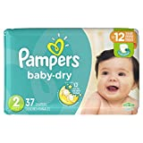 Diapers Size 2, 37 Count - Pampers Baby Dry Disposable Baby Diapers,...