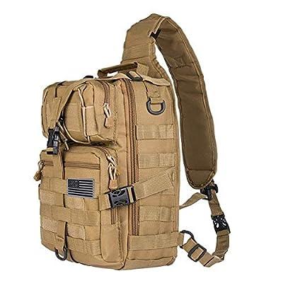 Tactical Sling Bag Pack Military Rover Shoulder Sling Backpack EDC Molle Assault Range Bag