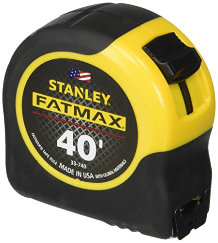 Stanley Tools FatMax 33-740 40-Foot Tape Rule with BladeArmor Coating,black; Yellow