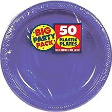 Amscan Plastic Plates 10 5 Inch Purple