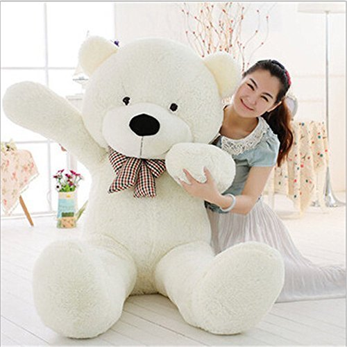 MorisMos Giant Cute Soft Toys Teddy Bear for Girlfriend Kids Teddy Bear (White, 47 Inch)