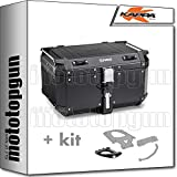 kappa maleta kfr580b k'force 58 lt + portaequipaje monokey compatible con bmw f 800 gs adventure 2017 17