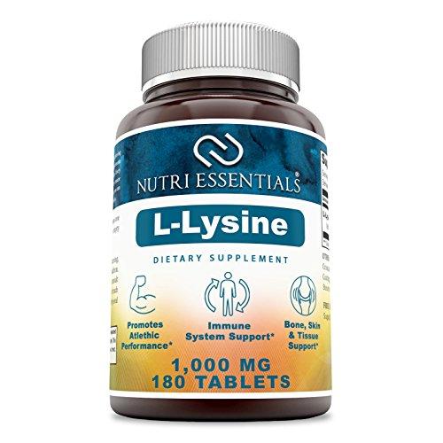 Nutri EssentialsL-Lysine–1000mg180 Tablets - Immune Support, Respiratory Health & More