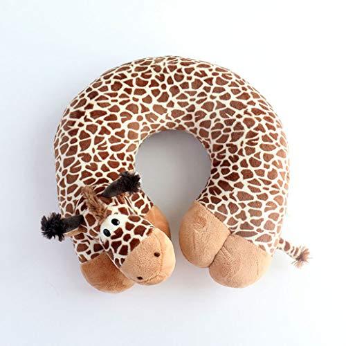 LLKK Vacation Travel Travel Pillow,Cartoon Giraffe Shape,Neck Support Cushion,inner Core PP Cotton Filling