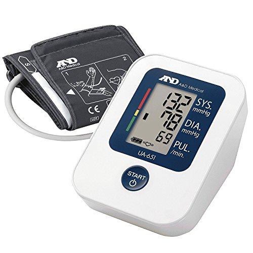 A&D Medical Upper Arm Blood Pressure Monitor with Wide Range Cuff (UA-651)